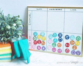 Magnetic chore chart etsy