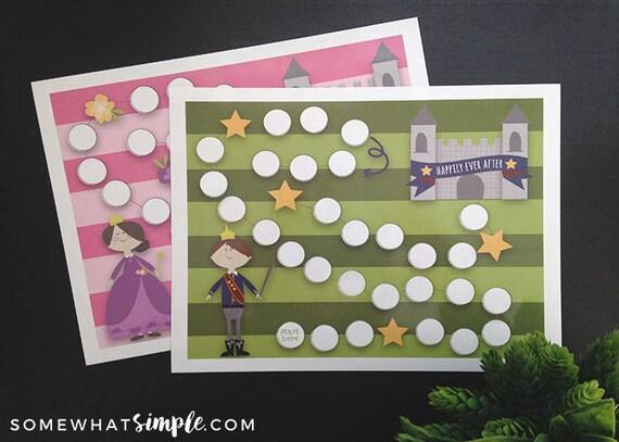 Goal Tracker Reward Chart For Kids Etsy