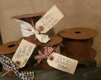 Set of 3 Prim Faux Spools ~ Grubby Faux Spools