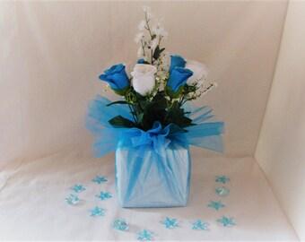 Wedding centerpiece silk flower | Etsy
