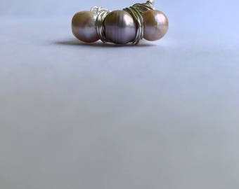 Rose Pearl Nest Statement Ring