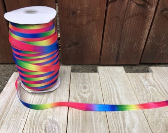 NEW-Elastic-RAINBOW-5/8 inches  5 yards and 10 yards