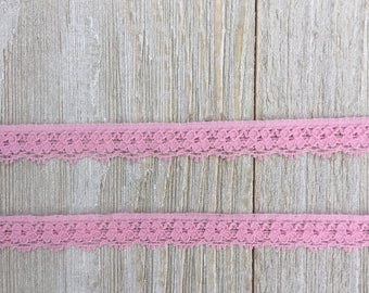 Stretch Lace LIGHT PINK -1/2 inch -10 yards for 3.89