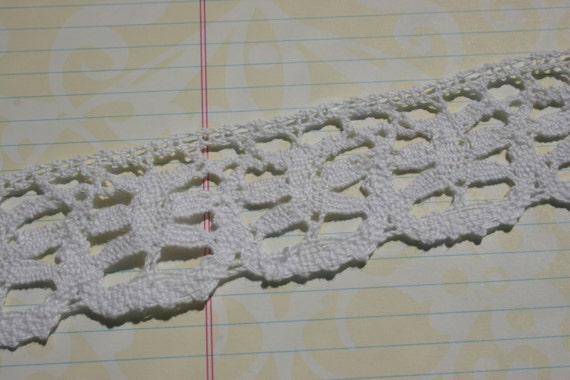 white cluny lace six petal flower pattern crochet trim no etsy