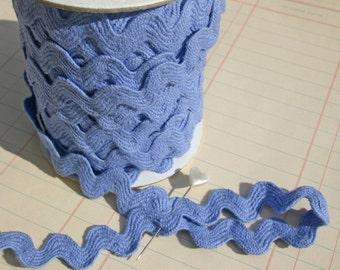 "Denim Blue Rick Rack - Jumbo Cotton Ric Rac Trim - 11/16"" Wide"