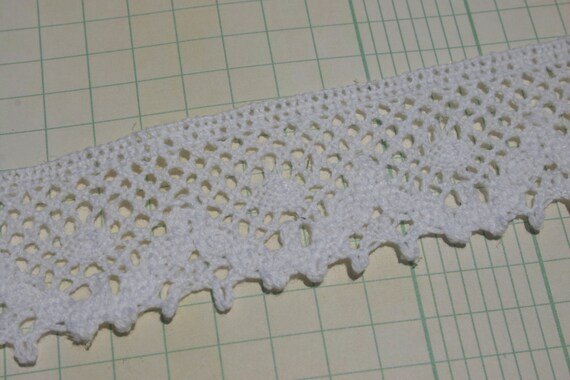 White Cluny Lace Wide Scallop Crochet Trim Pattern No 2 Etsy