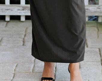 LillyAnnaKids Women's RAELEE knit long pencil skirt modest