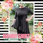 LillyAnnaLadies Mandy Shirt Peplum PDF Pattern Digital Modest