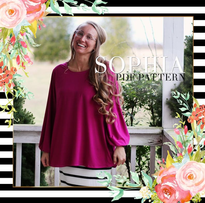 Lilly Anna Ladies SOPHIA Shirt PDF Pattern Modest Shirt Spring image 0
