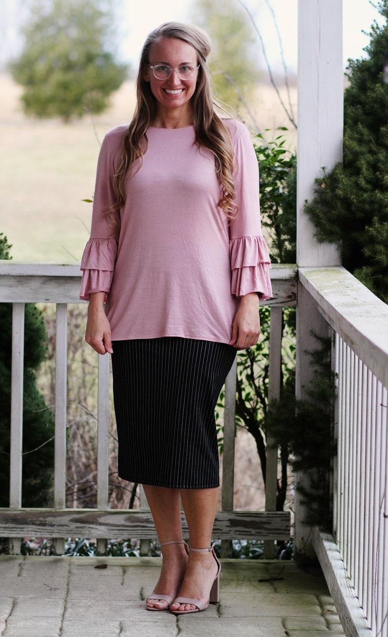 LillyAnnaLadies Adele Layering Ruffled Shirt top LALA image 0