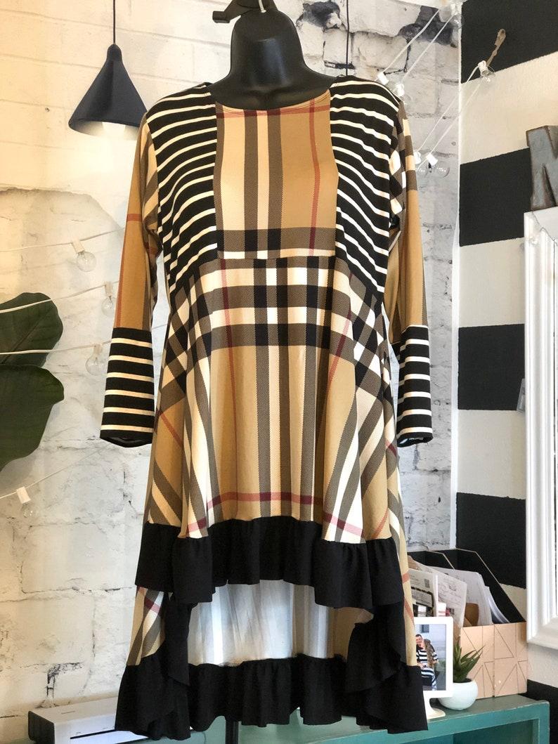 LillyAnnaKids Ladies PLaid Striped Shirt top LALA image 0