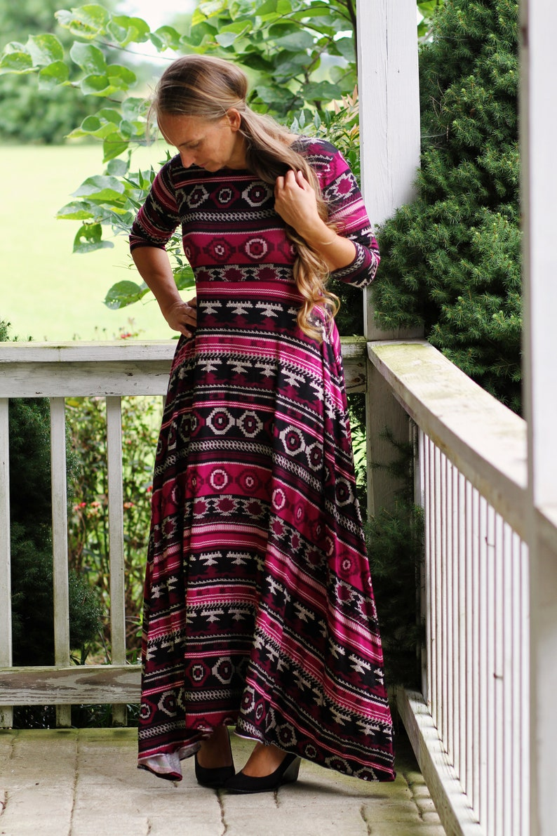 LillyAnnaLadies GRACE Ethnic Dress LALA Modest image 0