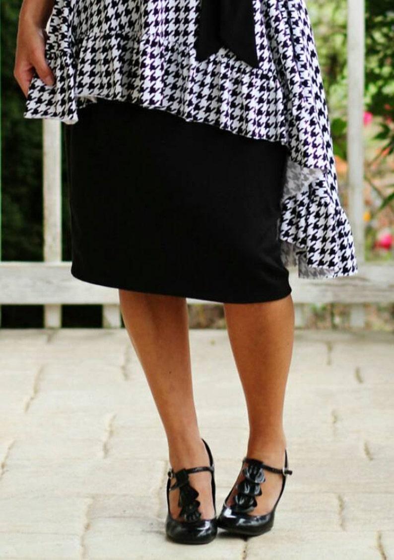 LillyAnnaLadies Women's Knit Pencil Skirt Modest image 0