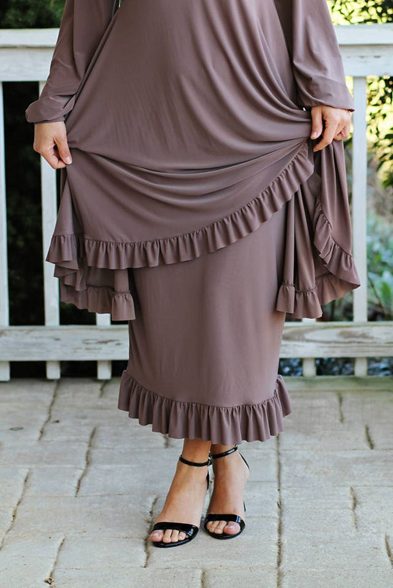 LillyAnnaKids Women's ELIZABETH knit ruffled pencil skirt image 0