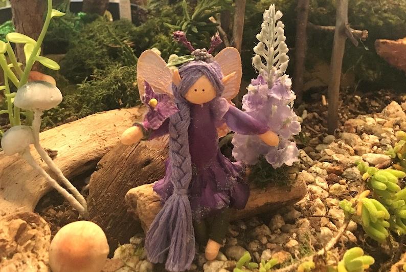 The Aster Purple Garden Fairy Fairy garden garden fairies image 0