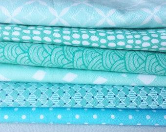 aqua fat quarter bundle, aqua quilt fabric, aqua fabric, aqua cotton fabric, aqua quilt, aqua fabric bundle, blue quilt fabric, aqua bundle