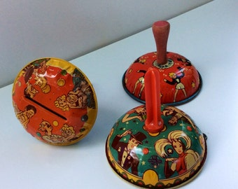 VTG US Metal Toy Co MFG Co Noisemaker // New Years Eve // Rattle // Party Favor // Set of 3