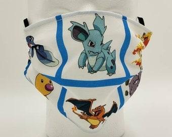 Handmade Facemask Pokemon Theme