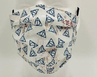 Handmade Facemask Deathly Hallows Theme