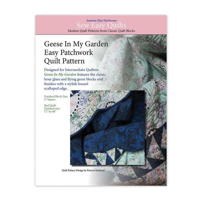 Quilt Pattern Instant Download PDF Geese In My Garden image 0