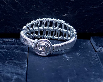 Hand Woven Sterling Silver Knot Ring