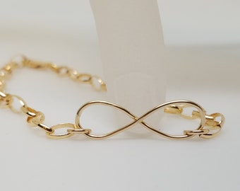 Infinity Link Symbolic Slave Bracelet 14kt Yellow Gold Fill