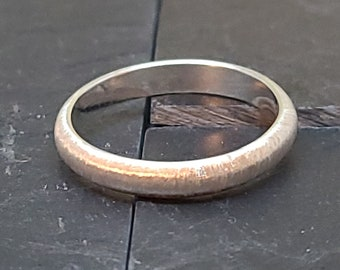 Brush Textured Sterling Silver Wedding Band Promise Ring
