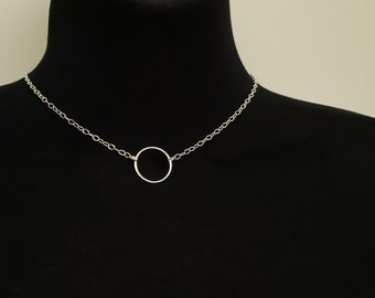 O Symbolic Slave Collar Necklace on 2.5mm Sterling Oval Link Chain