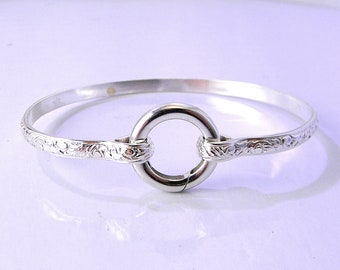 Made-To-Order Better Part of Valor Number 5 Sterling Silver Slave Cuff Bracelet