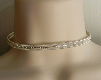 Discreet Slave Collar Sterling Silver with Sterling Clasp The Imnium Wire Sculpted MADE TO SIZE