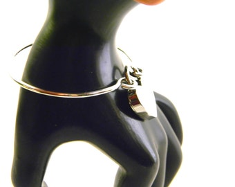 MADE TO ORDER Either Or Sterling Silver Lockable Slave Cuff Bracelet