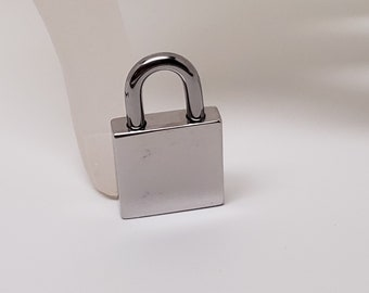 Tiny Stainless Steel Screw Locking Padlock 5 8ths x 3 16ths x 1 inch Shackle opening 1 qtr inch