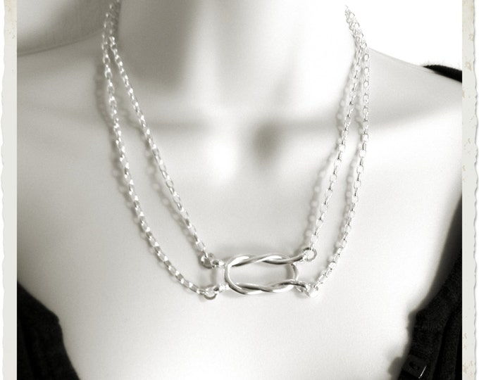 Featured listing image: Made To Order Knot an Ordinary Kind of Love Shibari Themed Sterling Silver Symbolic Public Day Slave Collar