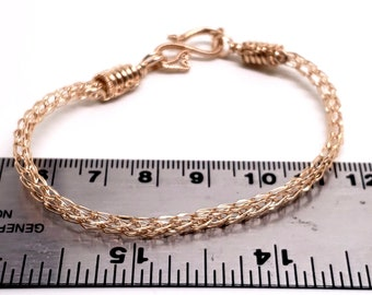 Handwoven 14kt Goldfilled Trichinopoly (a.k.a. Viking Knit Chain Bracelet)