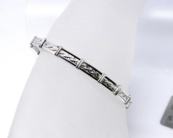 In Stock Rope Motif Slave Collar Alternative sterling silver Slave Anklet for Petite Ankle
