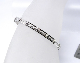 Rope Motif Slave Collar Alternative Sterling Silver Slave Bracelet or Anklet - Tool not included (Made to Order)