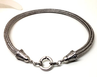 Stainless Steel Hand Woven Discreet Slave Collar Viking Knit AKA Trichinopoly