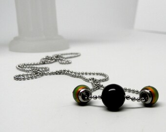 Color Changing Worry Bead Necklace on Stainless Steel Bead Chain (Limited Edition Holidays 2015 )