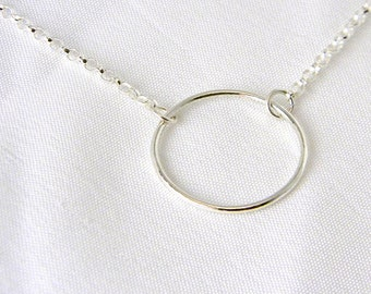 Made To Size O Symbolic Slave Collar Necklace on Sterling 2.5mm Oval Rolo chain.