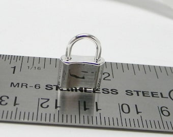 15mm Sterling Silver Mock Padlock Clasp
