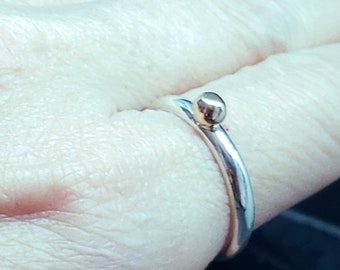 Sterling & 14kt Gold Accent Ring