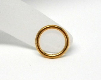 Gold Anodized Titanium Captive Segment Ring Hoop Body Jewelry Component 10 gauge