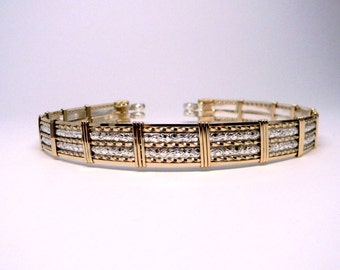 Wide Band Layered 14kt Gold Filled & Sterling Silver Slave Collar, Locking Collar, BDSM Discreet, Submissive Gift, Bridal Choker, Slave Gift