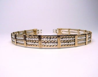 Made to Order Wider Profile Fancy Slave Collar-Mixed Metals