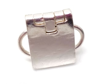 Sterling Silver Allen Key Locking Box Style Clasp
