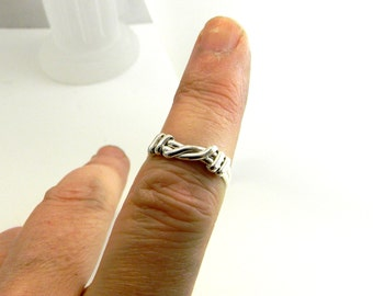 Knot an Ordinary Kind of Love Shibari Themed Sterling Silver Knot Ring