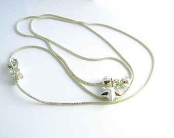 """Shining Star Modern Chic 20"""" Sterling Silver necklace."""