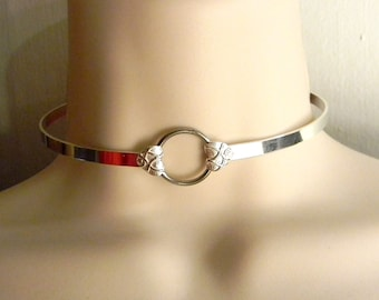 Made To Order Rough Love 5mm wide Sterling Silver Slave Collar