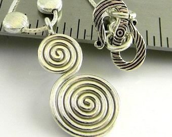 Spirals 16 Inch Sterling Necklace