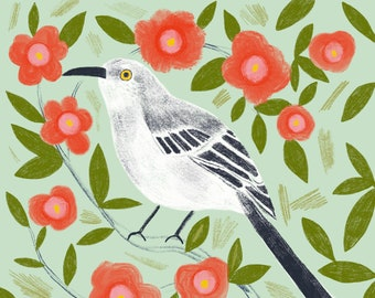 Mockingbird Art Print - (8x8)